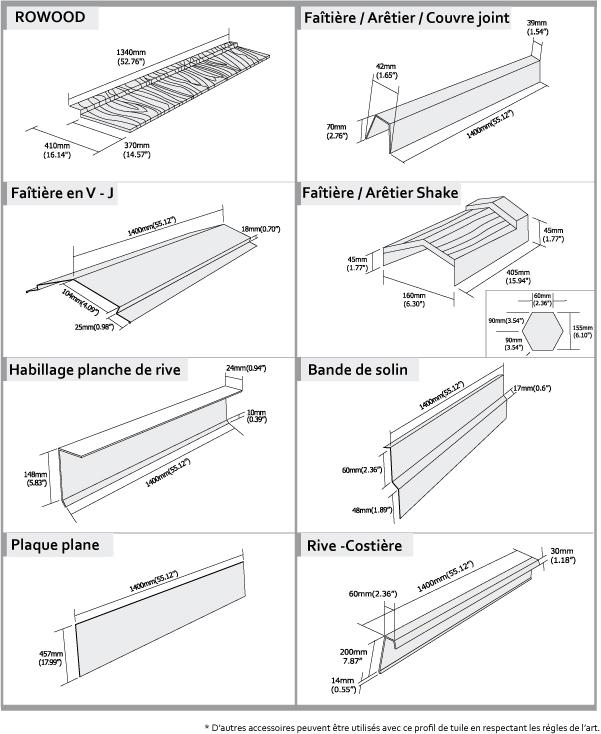 tuile acier rowood fabricant roser toutes les